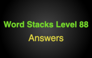 Word Stacks Level 88 Answers
