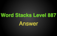 Word Stacks Level 887 Answers