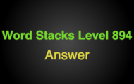 Word Stacks Level 894 Answers