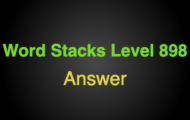 Word Stacks Level 898 Answers