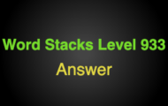 Word Stacks Level 933 Answers