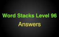Word Stacks Level 96 Answers