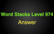 Word Stacks Level 974 Answers