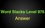 Word Stacks Level 976 Answers