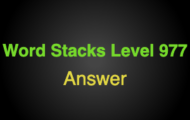 Word Stacks Level 977 Answers