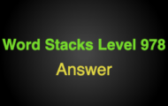 Word Stacks Level 978 Answers