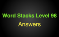 Word Stacks Level 98 Answers
