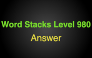 Word Stacks Level 980 Answers