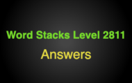 Word Stacks Level 2811 Answers
