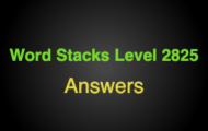 Word Stacks Level 2825 Answers