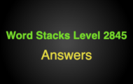Word Stacks Level 2845 Answers