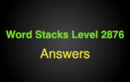 Word Stacks Level 2876 Answers