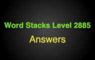 Word Stacks Level 2885 Answers