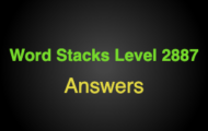 Word Stacks Level 2887 Answers