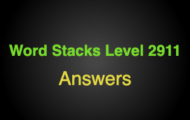 Word Stacks Level 2911 Answers