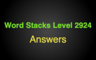 Word Stacks Level 2924 Answers