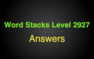Word Stacks Level 2927 Answers
