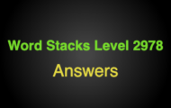 Word Stacks Level 2978 Answers