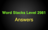 Word Stacks Level 2981 Answers