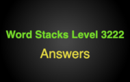 Word Stacks Level 3222 Answers
