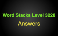 Word Stacks Level 3228 Answers