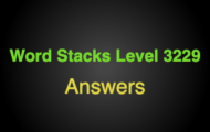 Word Stacks Level 3229 Answers