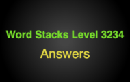 Word Stacks Level 3234 Answers