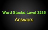 Word Stacks Level 3235 Answers