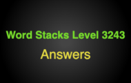 Word Stacks Level 3243 Answers