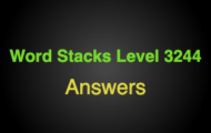 Word Stacks Level 3244 Answers
