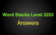 Word Stacks Level 3253 Answers