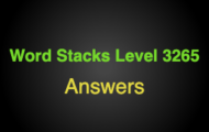 Word Stacks Level 3265 Answers