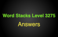 Word Stacks Level 3275 Answers