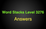 Word Stacks Level 3276 Answers