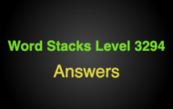 Word Stacks Level 3294 Answers