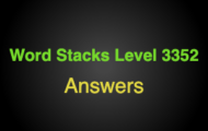 Word Stacks Level 3352 Answers