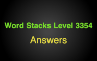 Word Stacks Level 3354 Answers