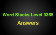 Word Stacks Level 3365 Answers