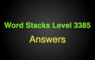 Word Stacks Level 3385 Answers