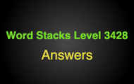Word Stacks Level 3428 Answers