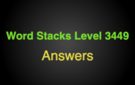 Word Stacks Level 3449 Answers