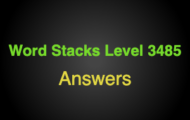 Word Stacks Level 3485 Answers