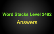 Word Stacks Level 3492 Answers