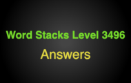 Word Stacks Level 3496 Answers
