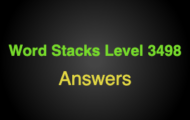 Word Stacks Level 3498 Answers