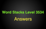 Word Stacks Level 3534 Answers