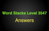 Word Stacks Level 3547 Answers