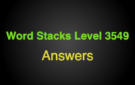 Word Stacks Level 3549 Answers