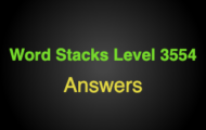 Word Stacks Level 3554 Answers