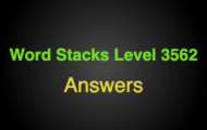 Word Stacks Level 3562 Answers